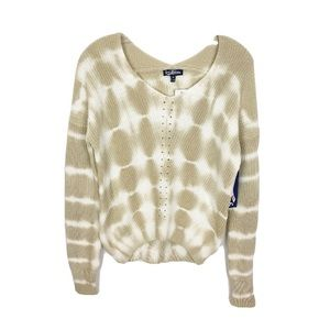 Freshman 1996 Knit Tie Dye Sweater Tan/White XS
